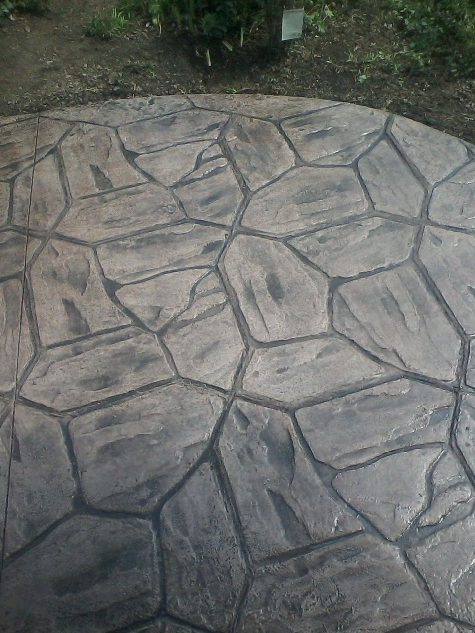 Flagstone Stamped Concrete Patio Rochester Ny