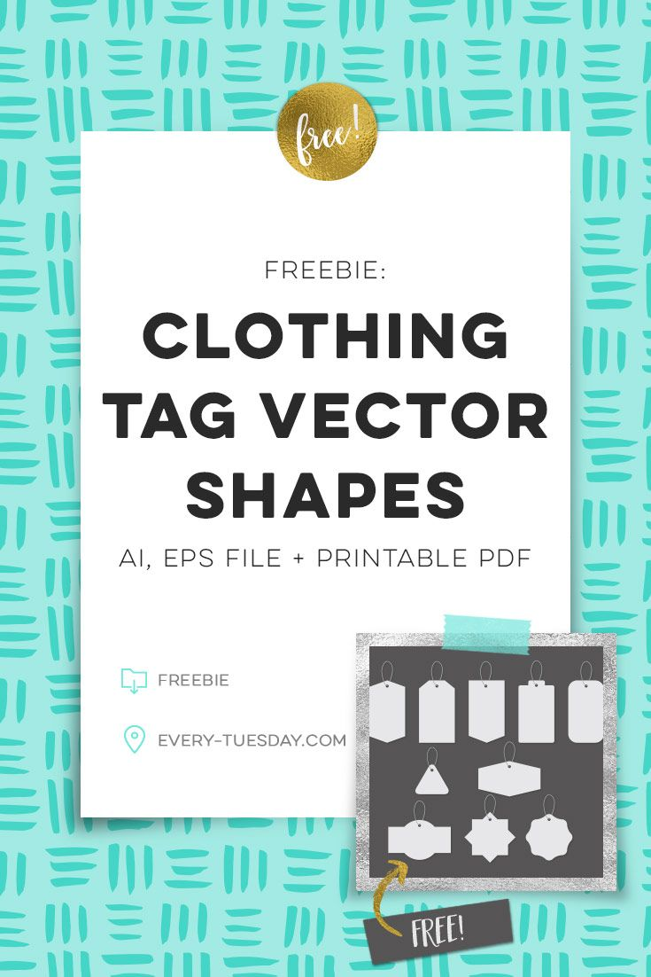 Freebie: Clothing Tag Vector Shapes | Graphics/ClipArt | Pinterest