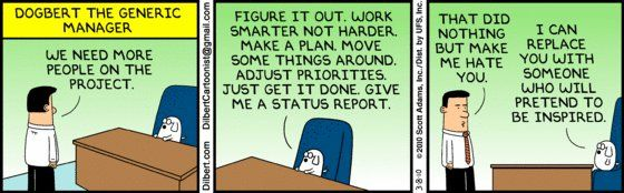 Best Dilbert Ever (With images) | Work humor, Project management ...