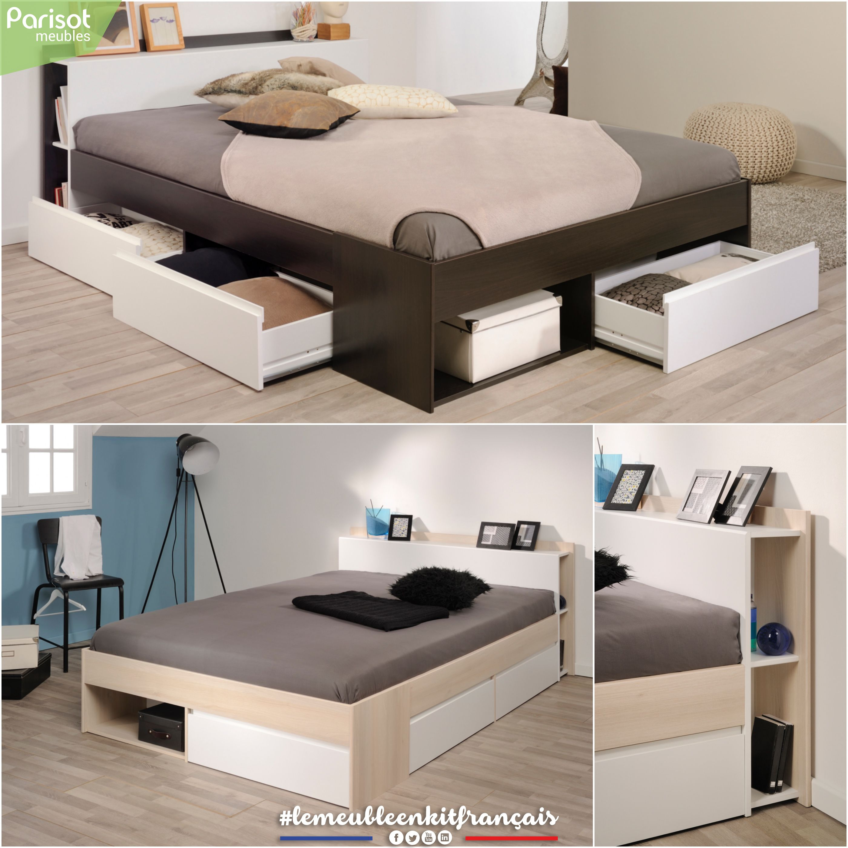 Most By Parisot Meubles Two Different Designs For The Bed Will Fit Perfectly With Our Neo And Carla Programs Lemeubleenkitfrancai Muebles Casas Habitacion