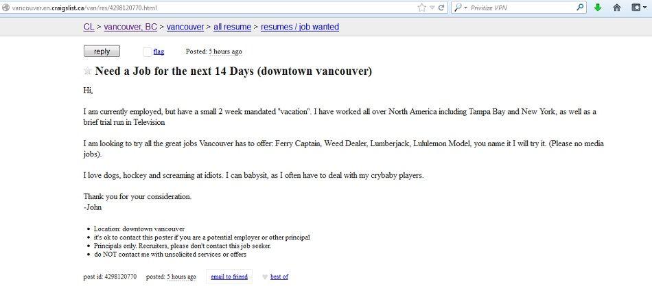 Craigslist Jobs Tampa