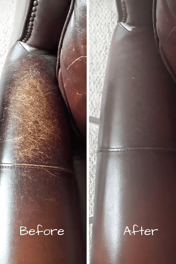 Conditioning A Leather Couch To Make It Look New Again Cleaning Hacks Chemical Free Cleaning Leather Repair