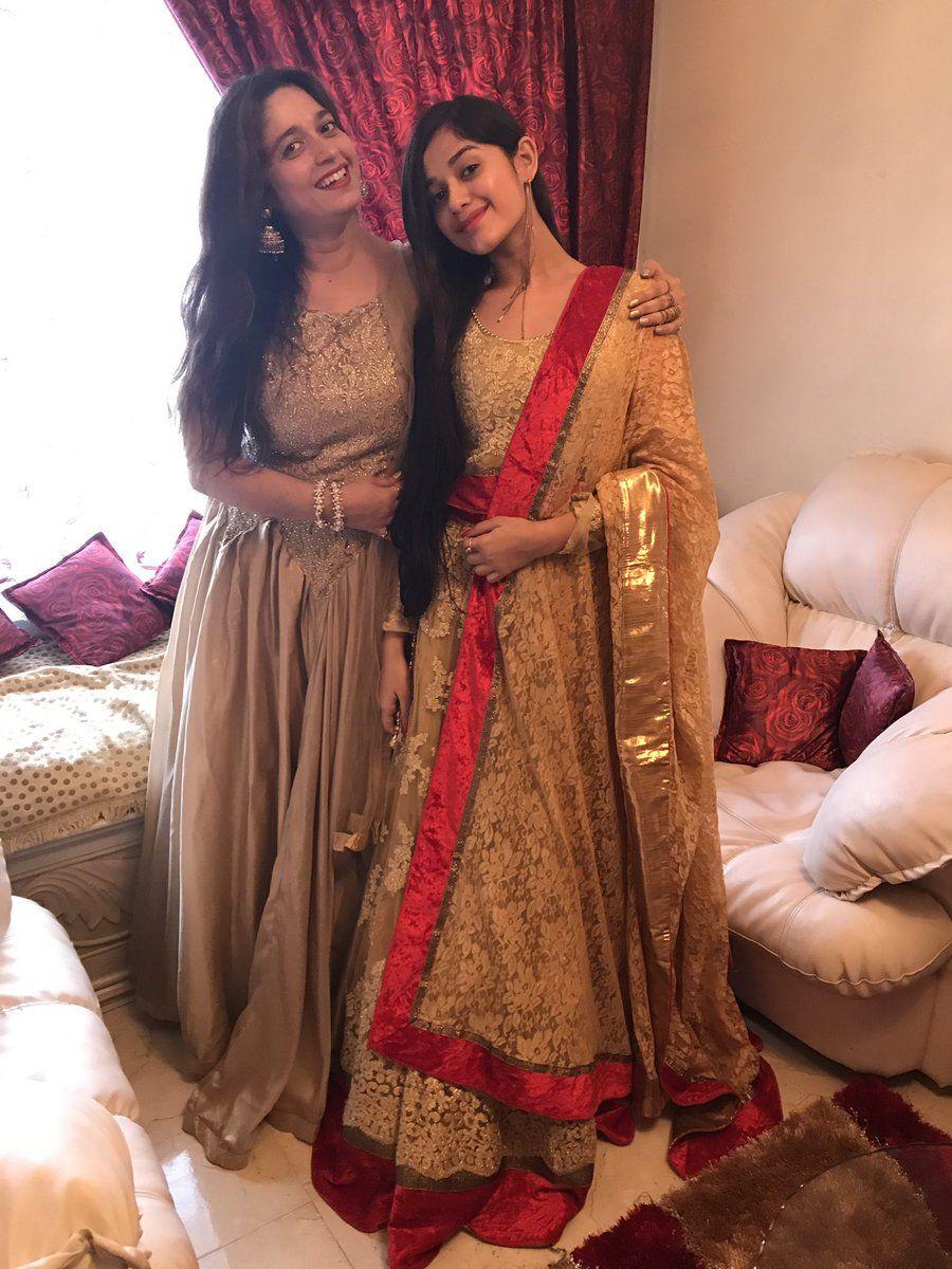 Jannat zubair pink dress  her mom  Pankti  Pinterest  Indian designer wear Designer