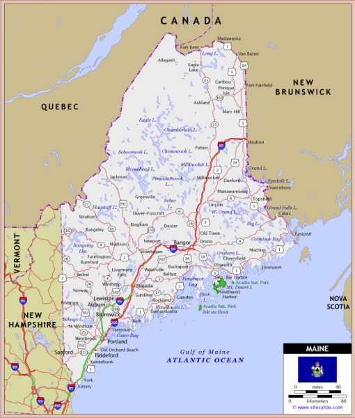 Nice Map Of Maine Holidaymapq Pinterest Map Maine And Fall