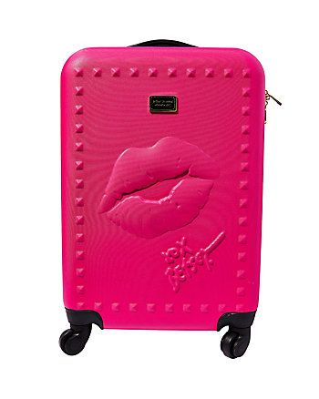 DEBOSSED LIPS ROLLER LUGGAGE | Fashion. | Pinterest | Betsey ...
