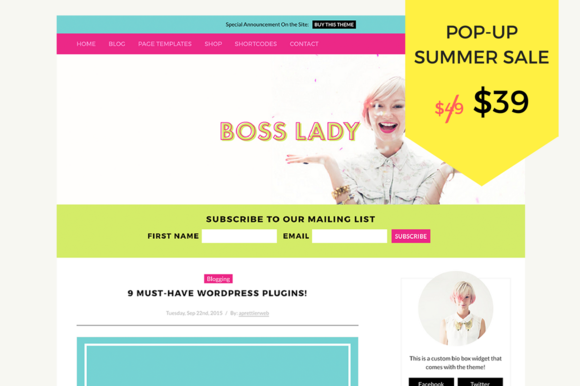 Boss Lady WordPress Theme | Boss lady and Wordpress