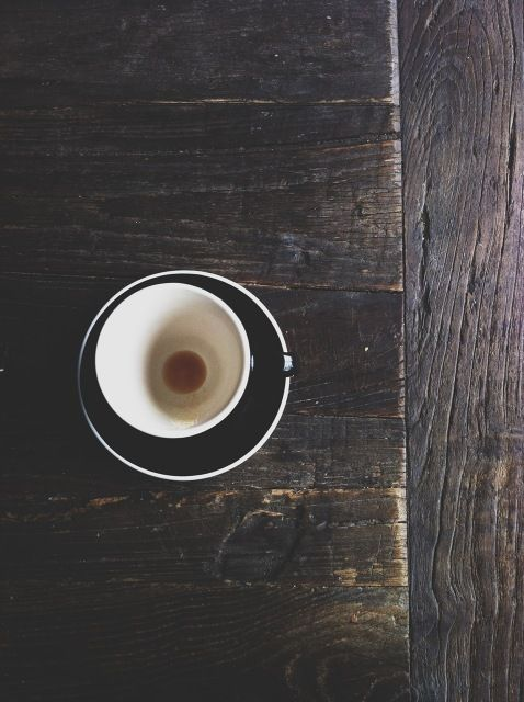 cool colors, warm coffee