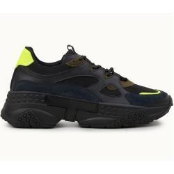 Tod's - Sneakers aus Veloursleder, Gelb,schwarz, 7 - Shoes Tod's #scarpedaginnasticadauomo