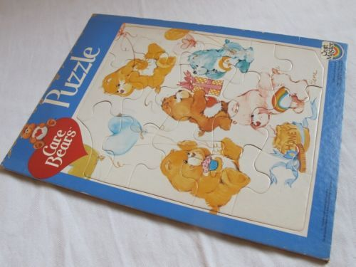 """Vintage Care Bears Frame Tray Puzzle Troma 1983 Craft Master 8x11"""" Sharing"""