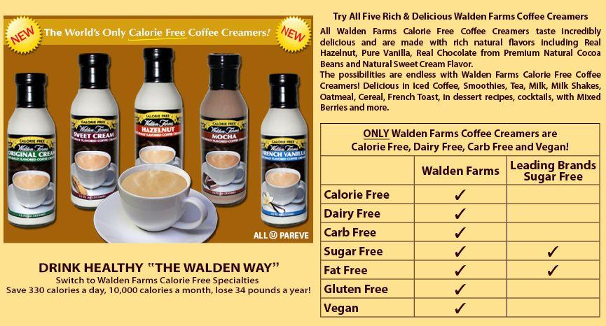 Walden Farms Coffee Creamers Coffee Creamer Free Coffee Creamer Recipe