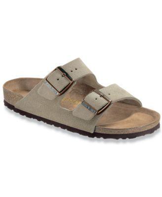 BIRKENSTOCK Birkenstock Men's Arizona Two Band Suede Sandals. #birkenstock #shoes #flops