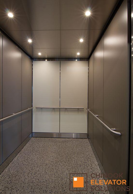 1124 Columbia Medical Bldg. Seattle Washington. Elevator Design Elevator  Interior Elevator Cab