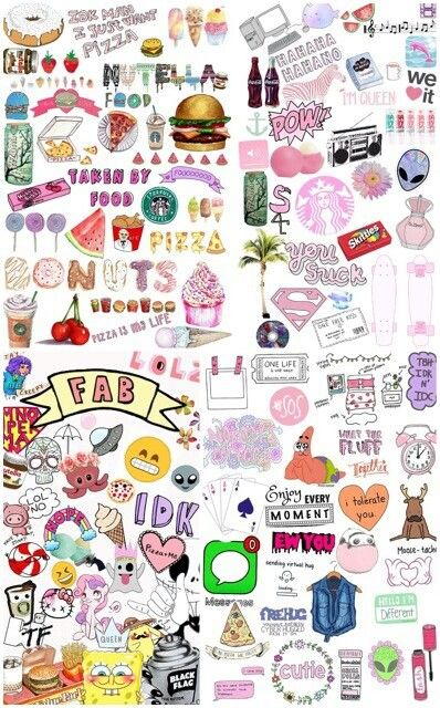 Tumblr Collage Cute Stickers Cute Wallpaper For Phone Aesthetic Stickers