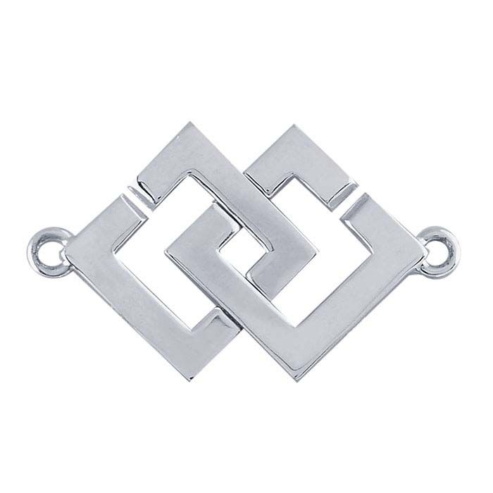 Fine Sterling Silver Interlocking Round Hook and Eye Toggle End Cap Clasp #99021