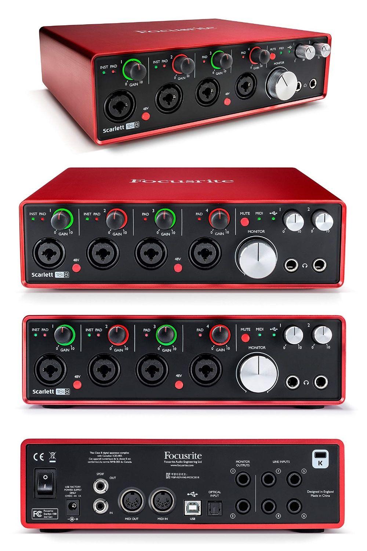 Focusrite Scarlett 18i8 2nd Gen Usb Audio Interface With Pro