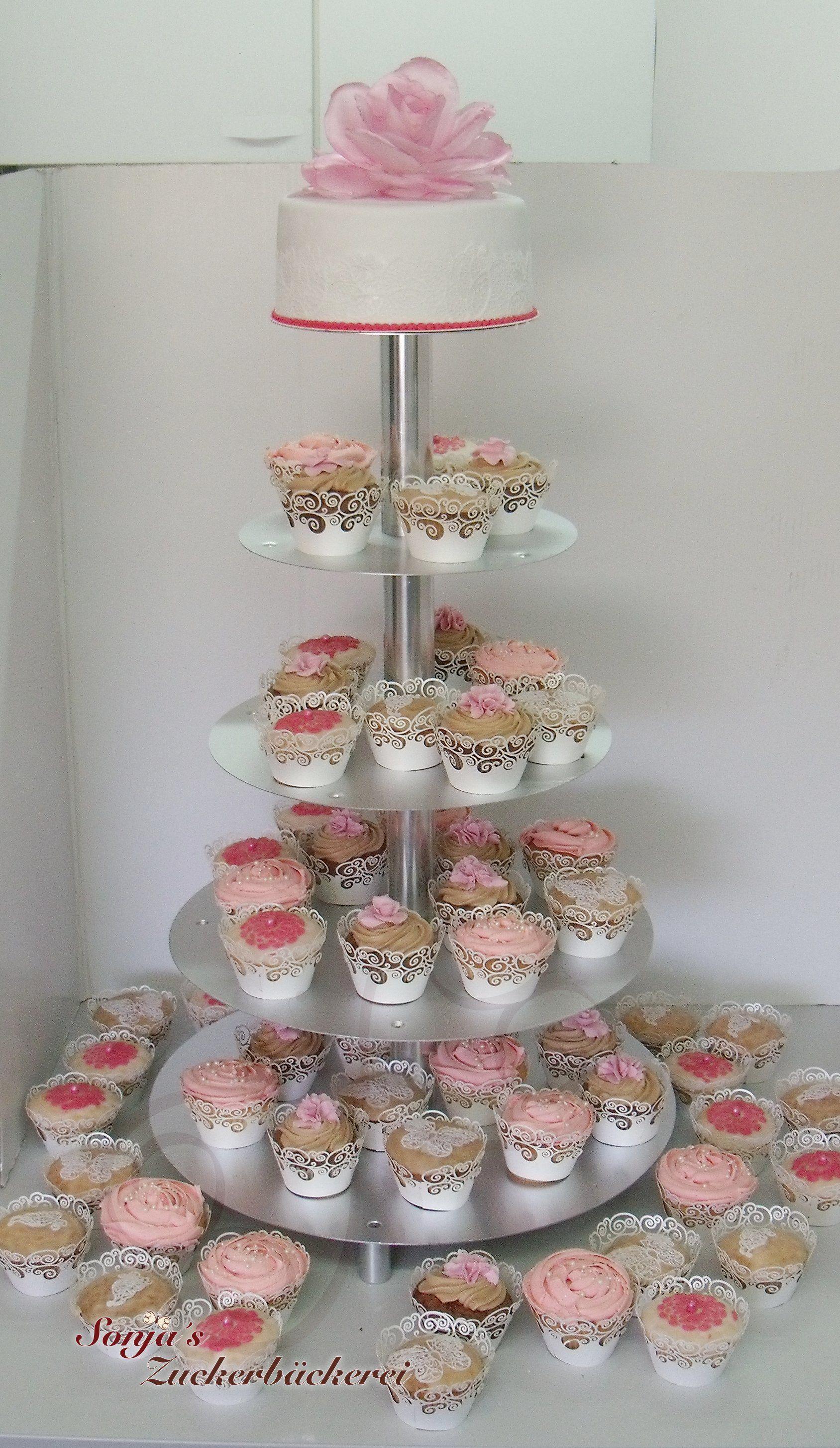 Hochzeitstorte Und Cupcakes Torten Zur Hochzeit Pinterest