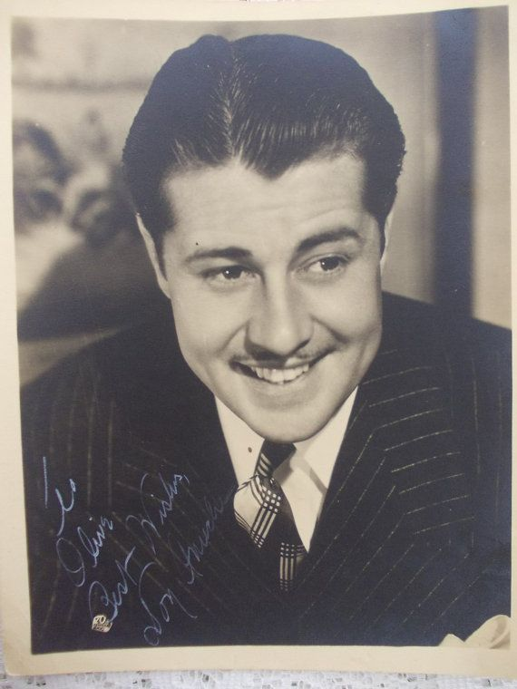 1940s Don Ameche autographed 20th century by DaysofYoreTreasures