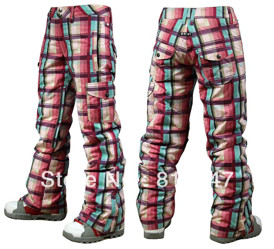 Plaid snowboarding pants | * Womens Snowboarding Attire ...