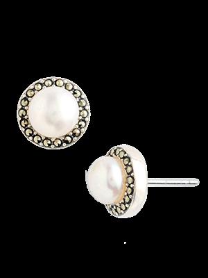 40d191362 Freshwater Pearl Stud Earrings - Judith Jack @ GetThis.tv $65 | Shop ...