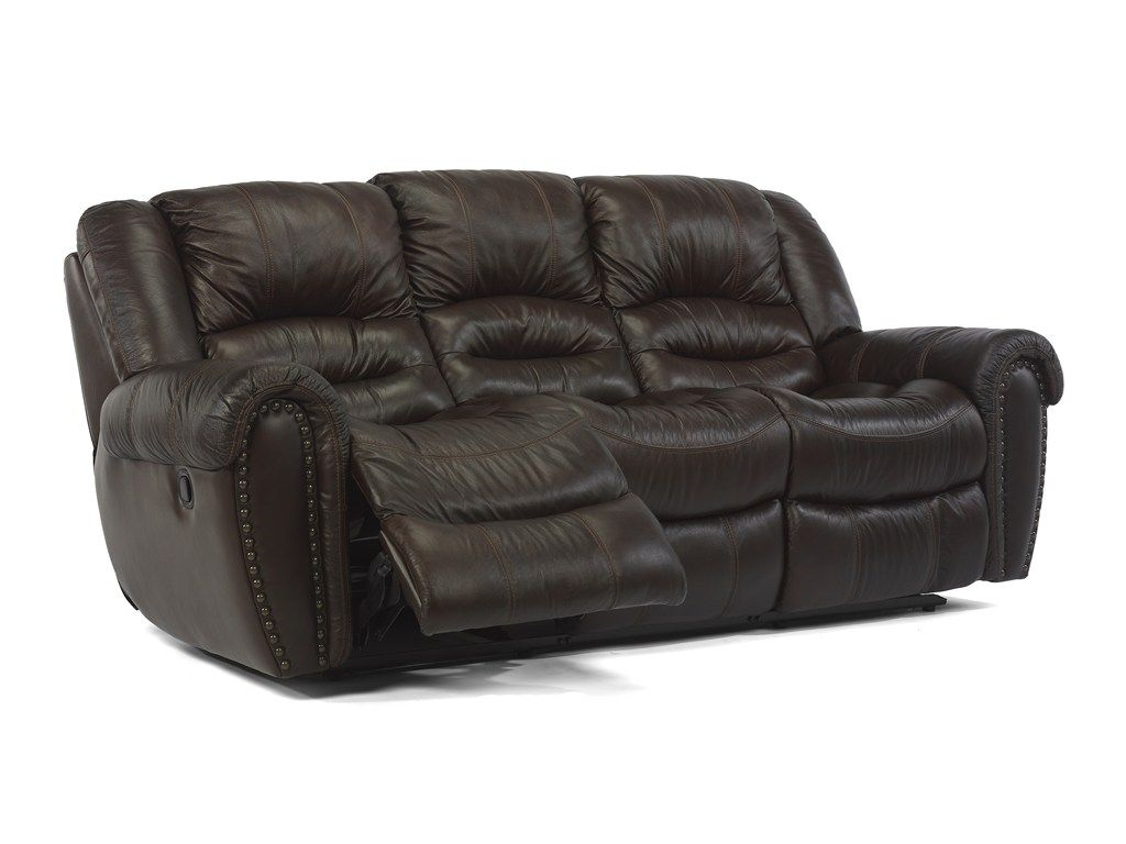 Flexsteel Latitudes Crosstown Double Reclining Sofa