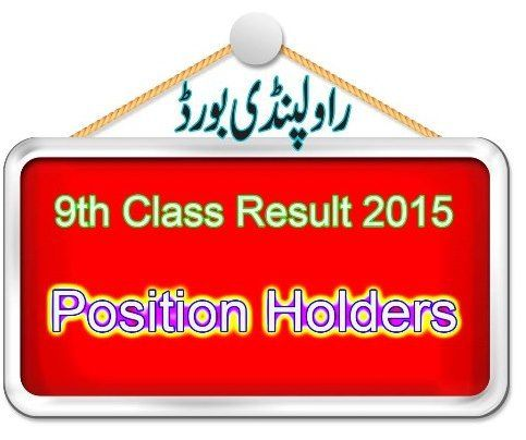 Rawalpindi board 9th Class Result Position Holders Names
