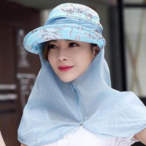 Flower Sun Hat With Neck Cover Uv Protection Visor Hats For Women Outdoors Wear Corbatas Gorras Turbantes