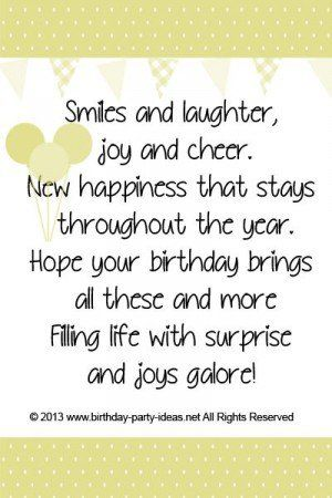 Birthday Cheers Quotes Quotesgram Birthday Verses For Cards Birthday Card Messages Birthday Quotes Inspirational