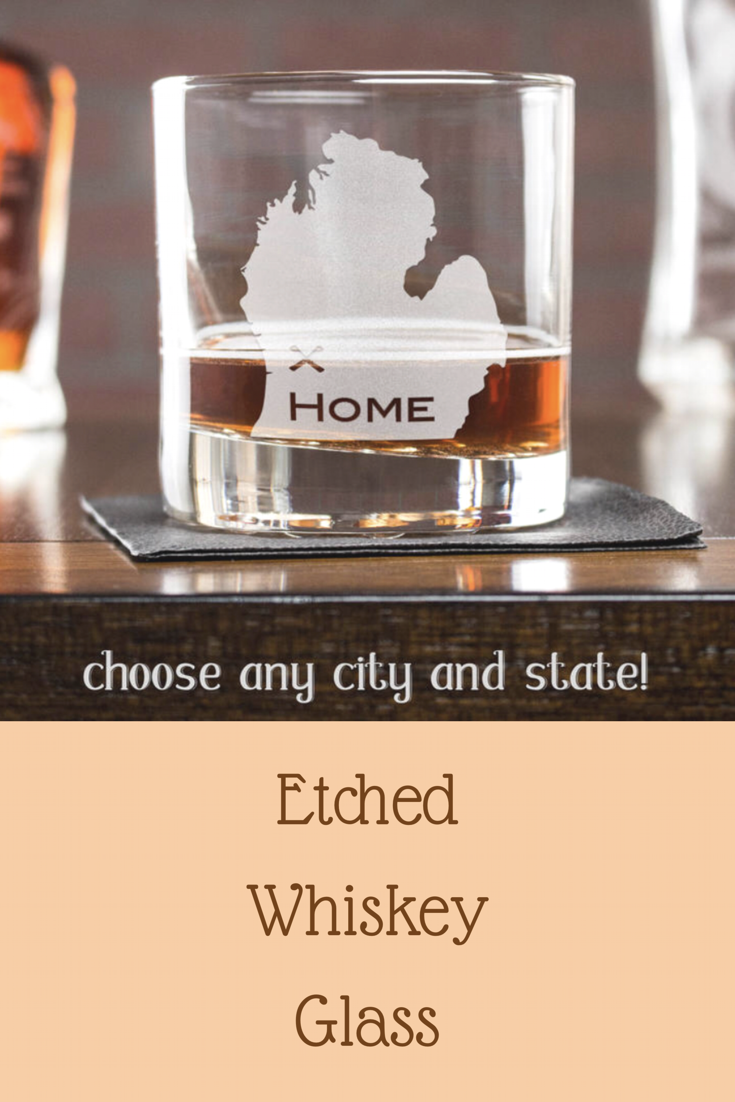 etsy retirement gift, whiskey glass, gift ideas for dad, minnesota