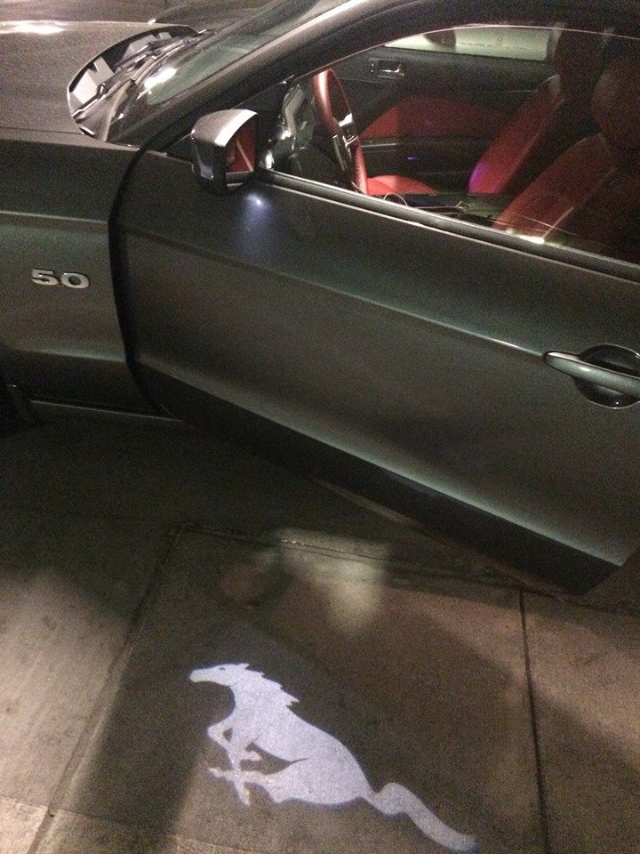 Buddy Just Bought A A New Mustang Gt And The Doors Generate A Mustang Logo Hologram When Opened Post Mustang Logo New Mustang Mustang