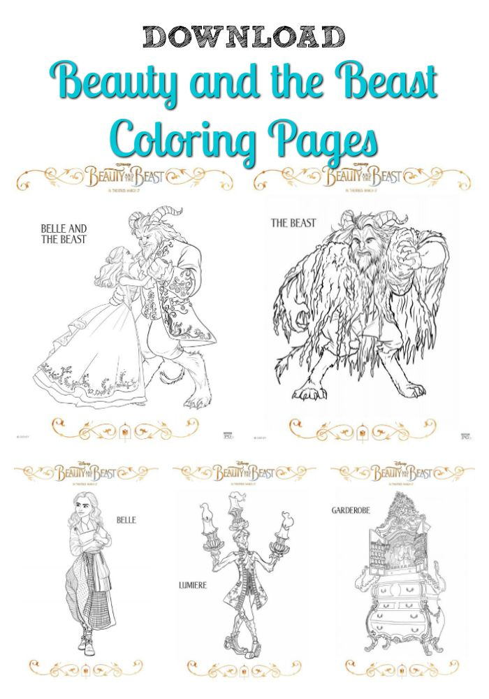 Free Beauty And The Beast Coloring Pages Download And Print Here
