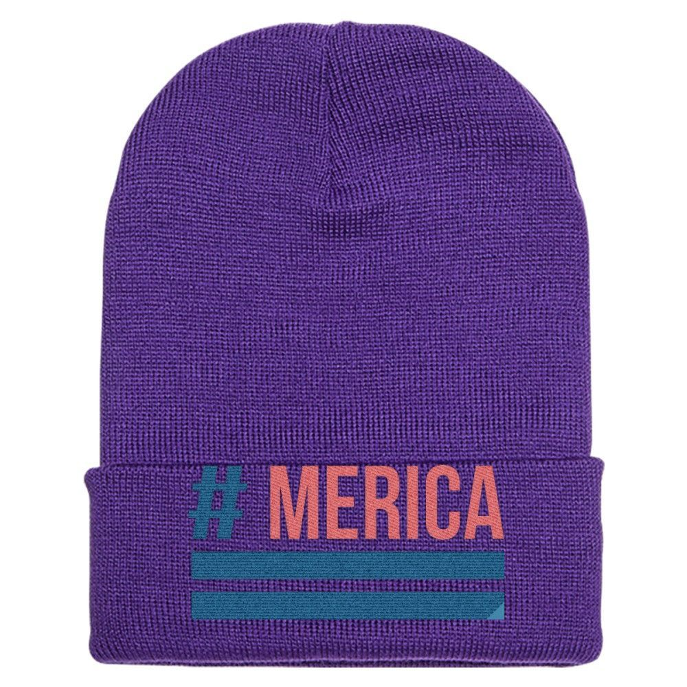 'Merica Embroidered Knit Cap