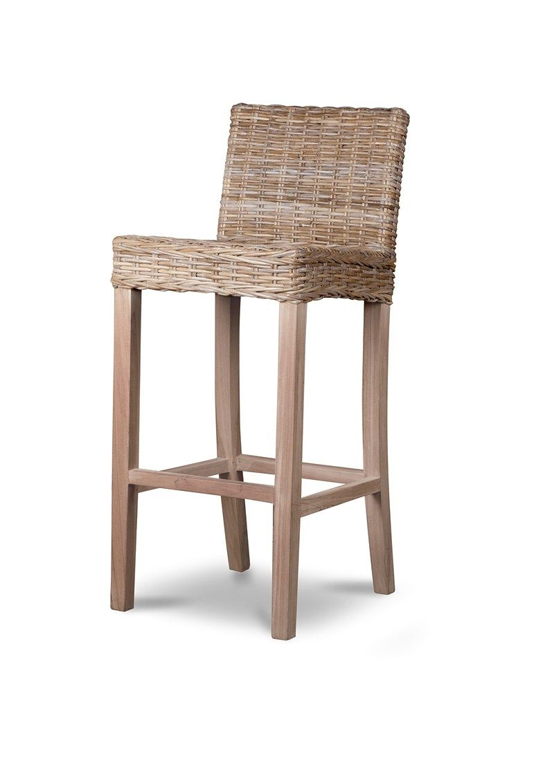 Modomi Grey Fabric Seat Kitchen Breakfast Bar Stool Wooden Frame