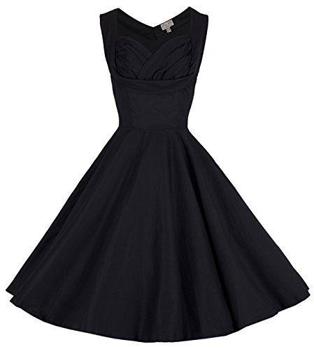Lindy Bop \'Ophelia\' Vintage 1950\'s Prom Swing Dress (S, Black) Lindy ...