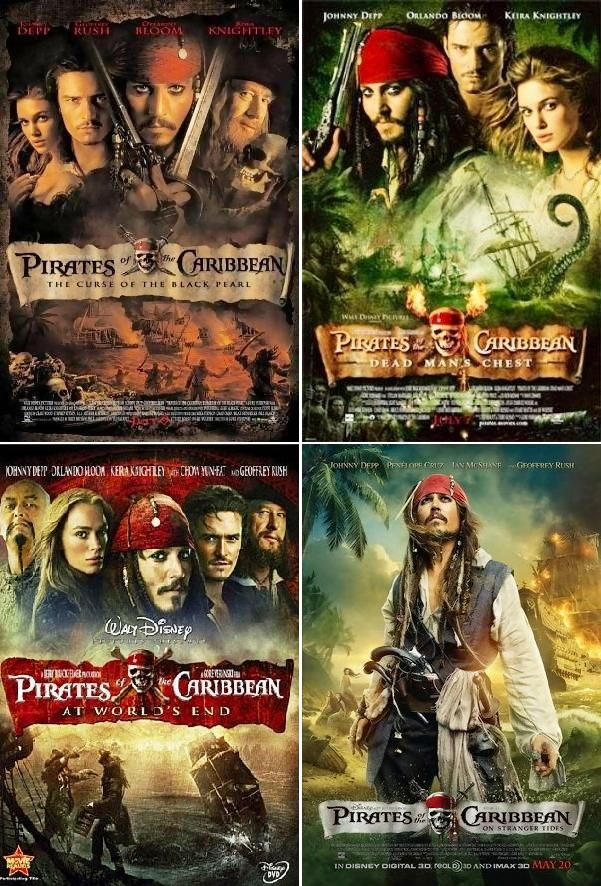 pirates of the caribbean all movies download in hindi hd