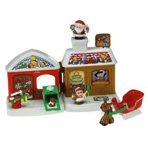 Amazon Com Fisher Price Little People A Visit From Santa Toys