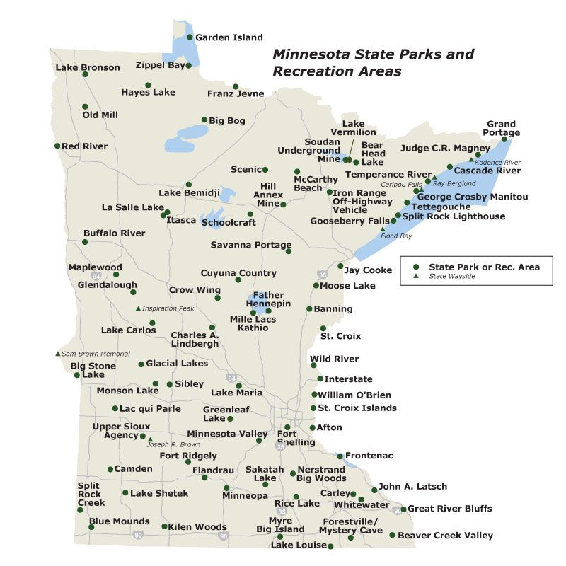 Mn State Park Map Map of MN state parks. We plan to do them all! | Travel Minnesota