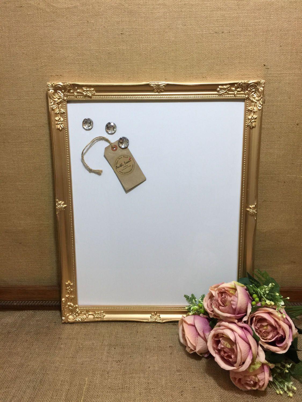 Gold Magnet Whiteboard Gold Dry Erase Board Metallic Framed Message Board Gold W Ornate Picture Frames Office Design Inspiration Inspiration Board Design