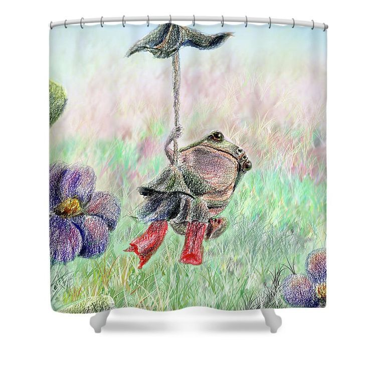 Happy Frog For Happy Peoples Bathroom Shower Curtain