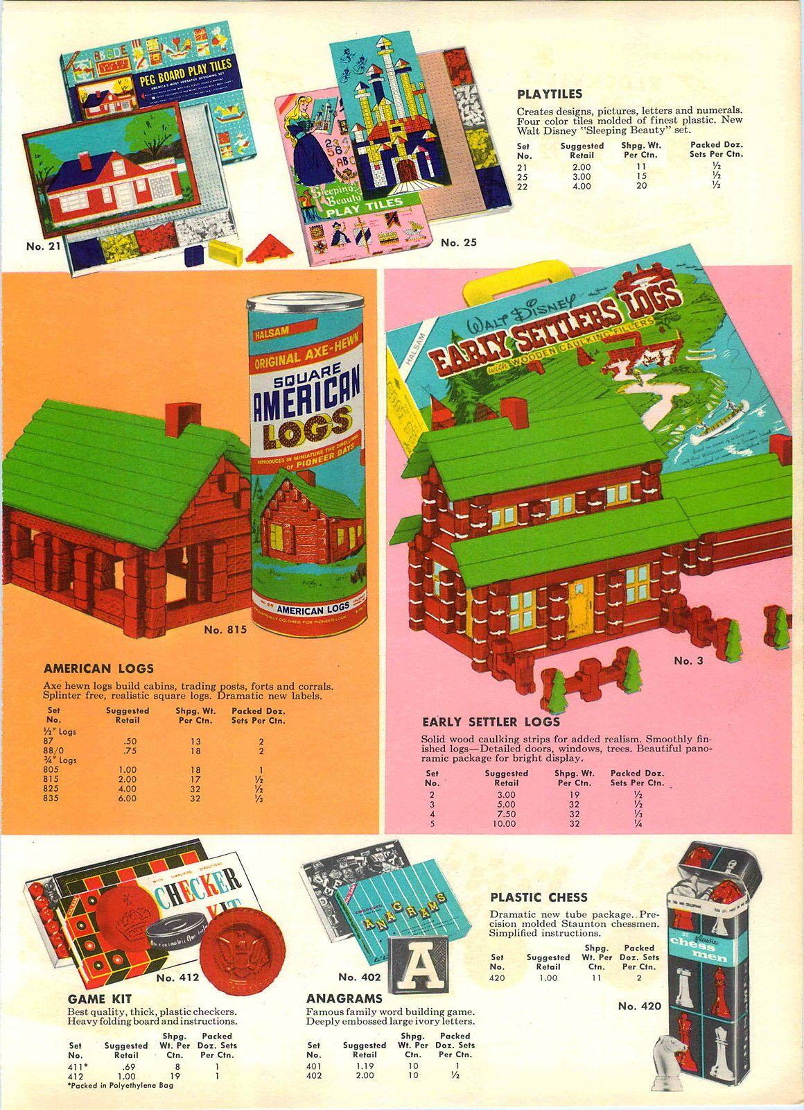 1959 Advert 4 PG Halsam Toys Square American Plastic Blocks Skyline   eBay