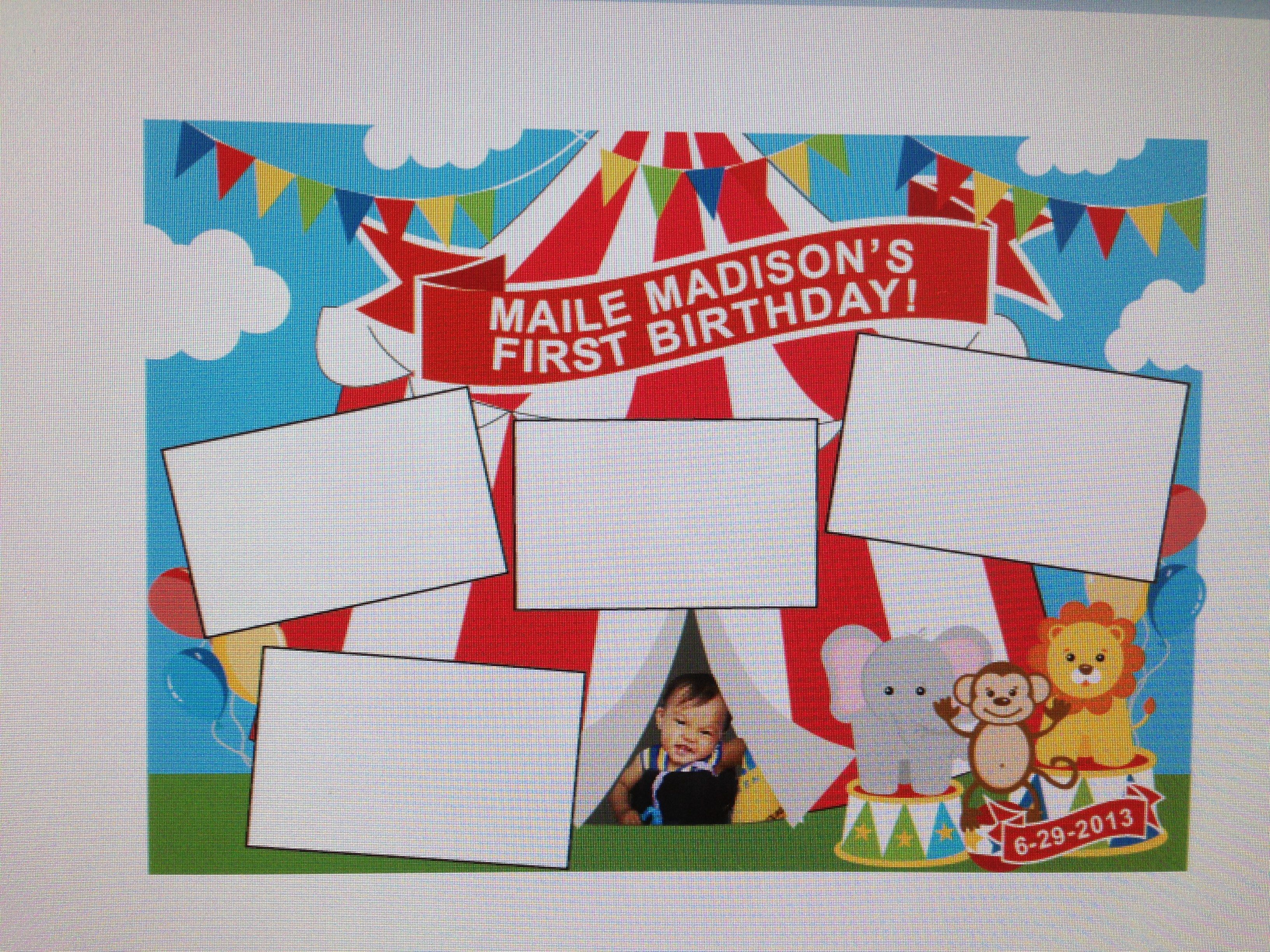 carnival photo booth design template for printing c m creations