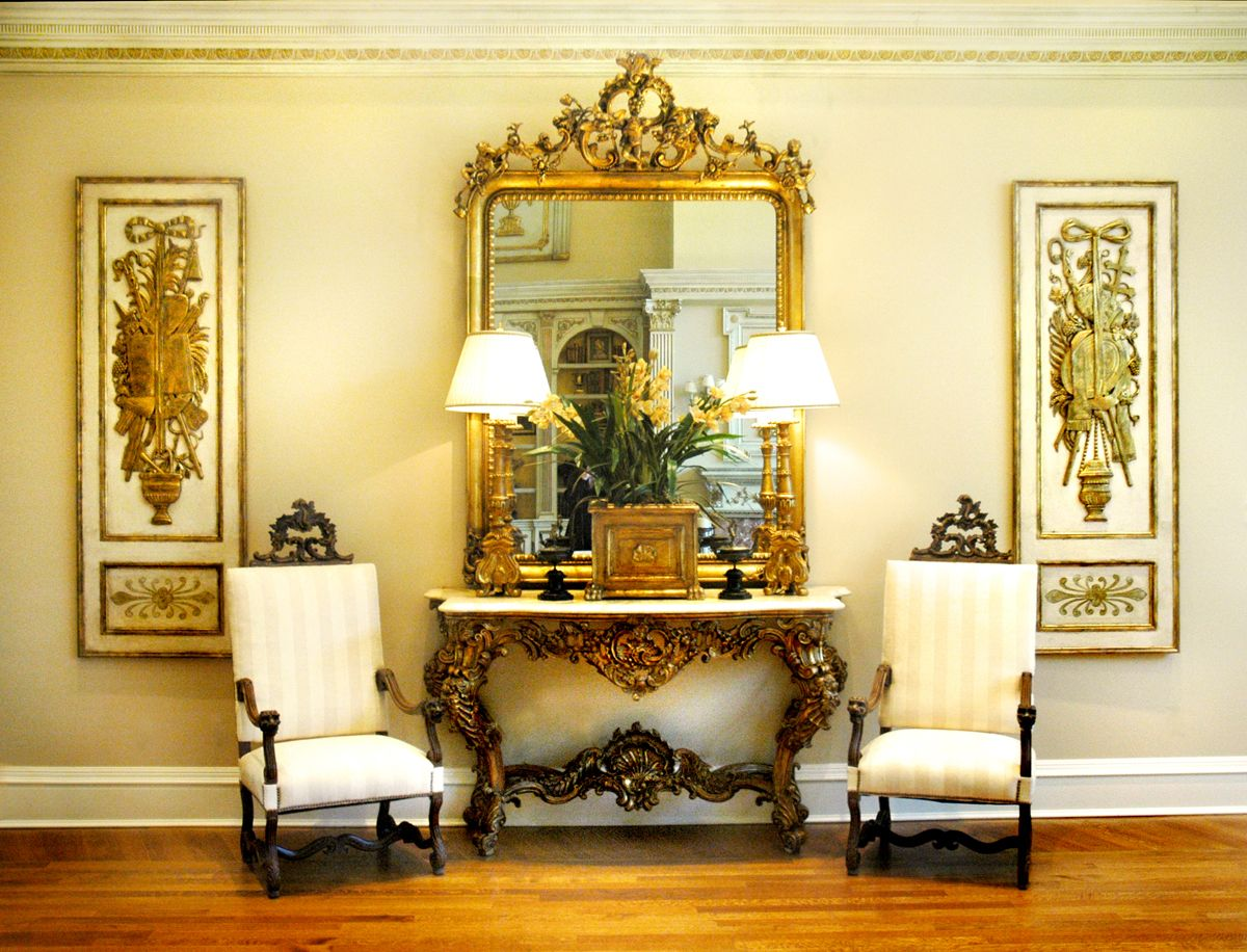 Classic Interior Design details about classic interior design little rock gold mirror