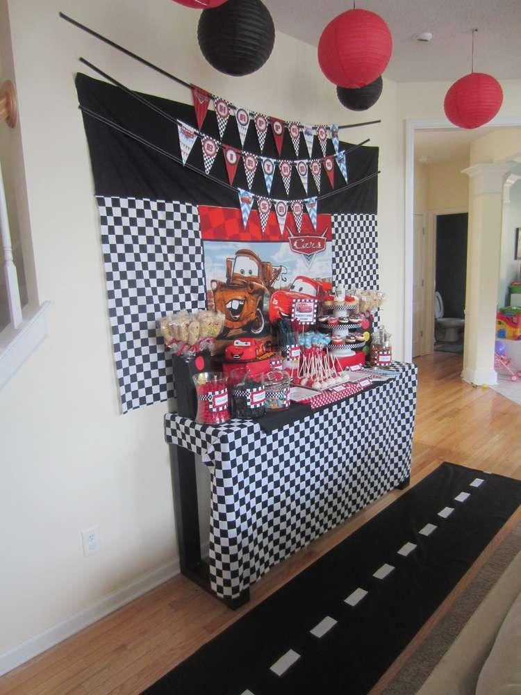 Disney cars birthday party ideas boy birthday party - Decoracion para cumpleano ...
