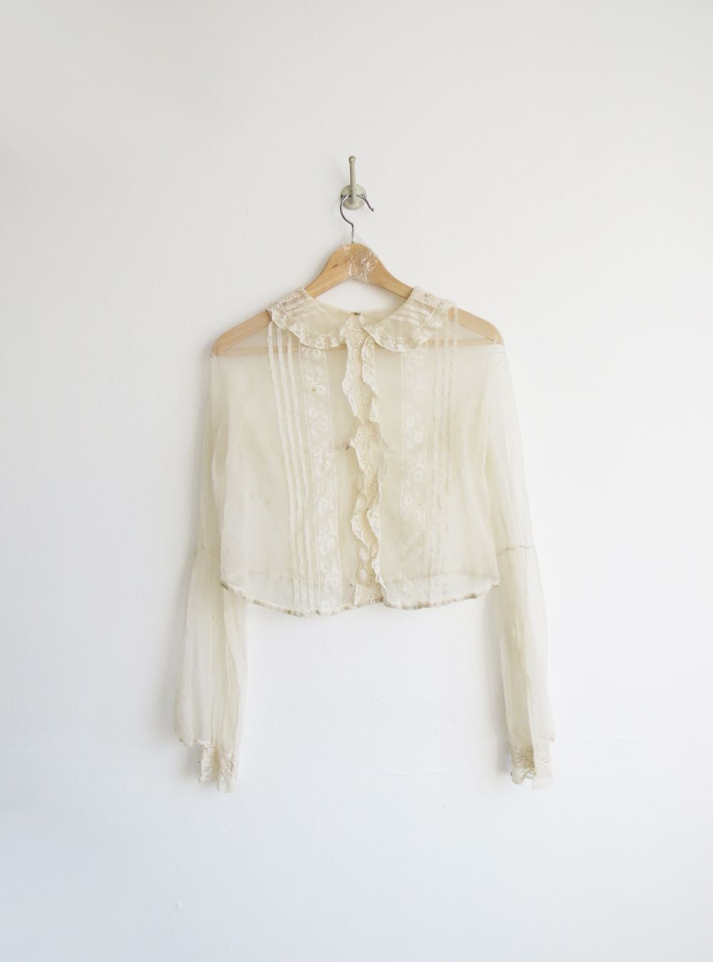Antique sheer blouse vintage us top style lovett
