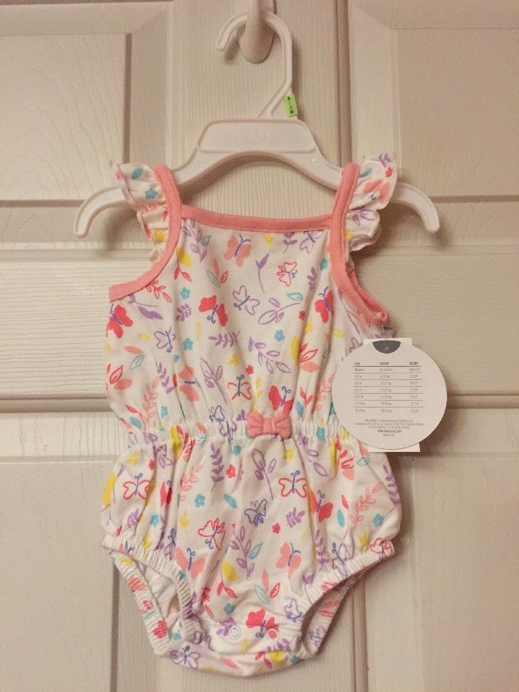 674089e4b Koala Baby Girls Romper Butterflies Size 0 3 Months NWT  fashion ...