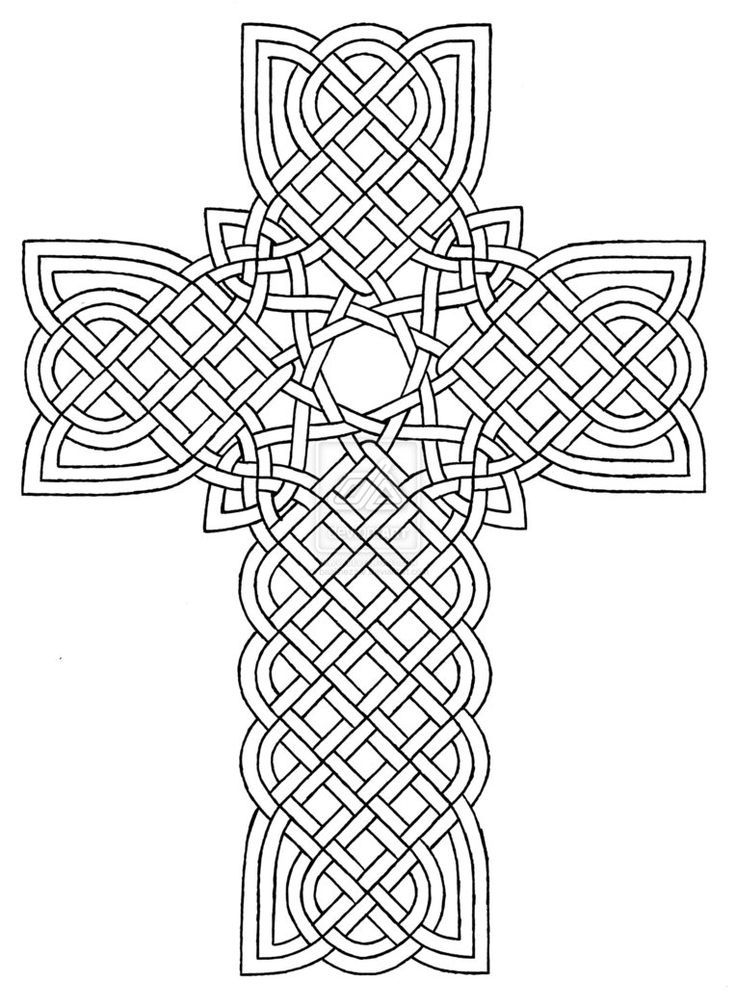 Coloring Pages Crosses Designs Celtic Cross Design 1 By