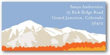 Personalized Address Labels Rocky Mountains