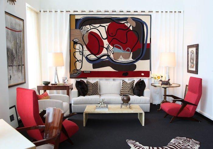 1001 conseils et id es quelle couleur va avec le rouge design d int rieur deco rouge. Black Bedroom Furniture Sets. Home Design Ideas