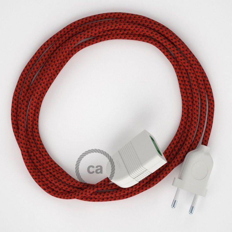Rallonge électrique avec câble textile RT94 Effet Soie Red Devil 2P - Couleur Des Fils Electrique