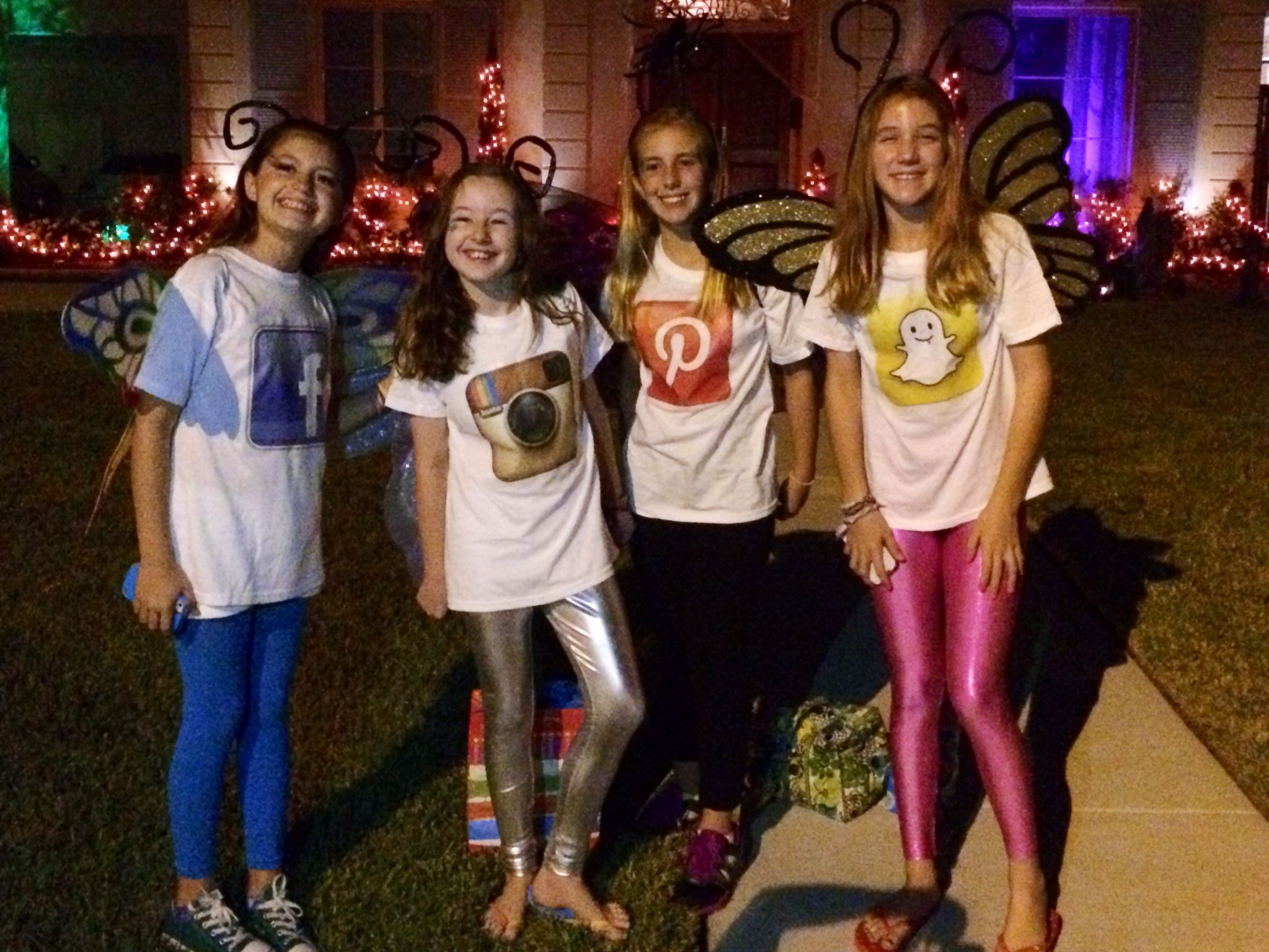 cant wait to be social butterflies for halloween with my friends such a great idea - Halloween Social Ideas