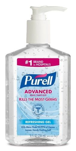 Purell Instant Hand Sanitizer With Pump Dispenser 8 Fl Oz Hand